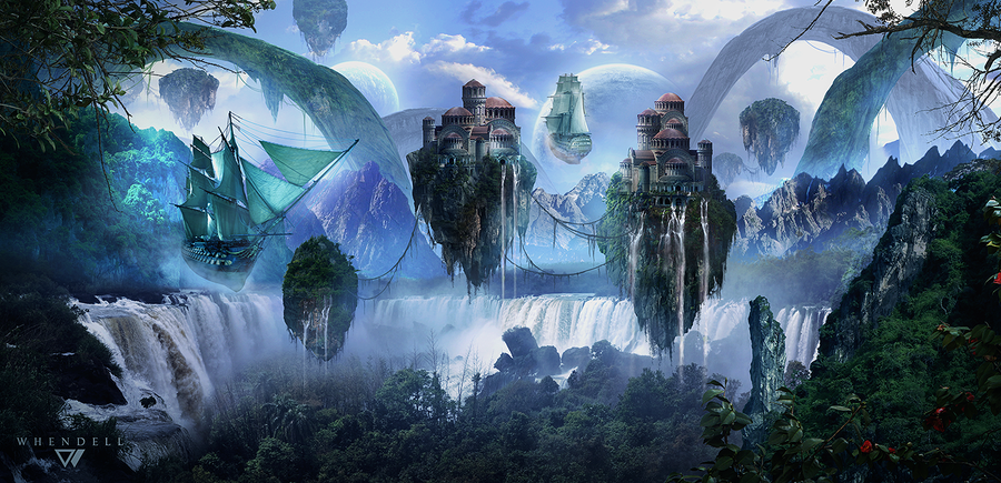 Floating Island by Whendell